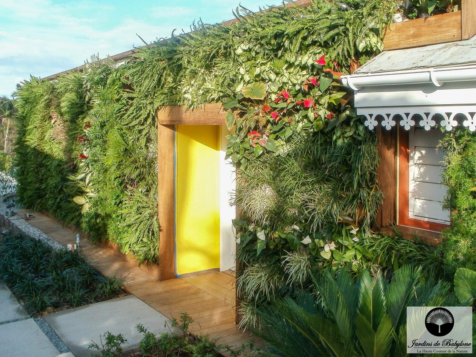 Facade Vegetale Nouvelle Technologie Alliant Mur Vegetal